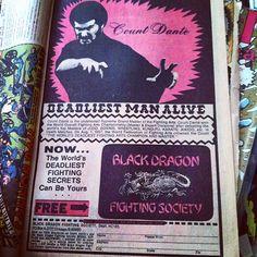 While working on some vintage comic book cigar boxes, i came across this amazing vintage ad.  Don't mess with the Count.