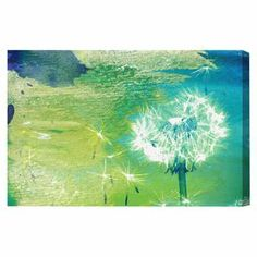 Oliver Gal & Co. Abstract Dandelion Canvas Print