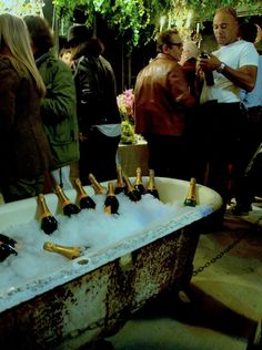 Use that old bathtub as an ice cooler for Champagne!  TPA perrier-jouet