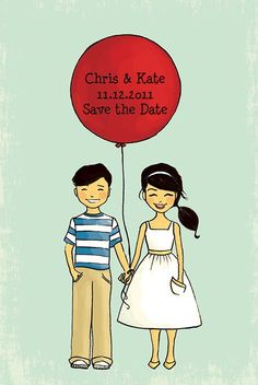 save the date - so cute!  i might try to draw my own version for our wedding save the dates!