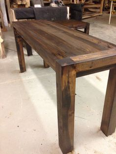 Beetle kill sofa table by RMRWoods on Etsy, $325.00