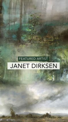 Moody landscape and forest paintings by Featured Artist Janet Dirksen from South Africa. Abstract Landscape, Landscape Paintings, Forest Painting, South African Artists, Artist Bio, What Inspires You, Big Sky, Impressionism, Artwork