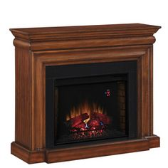 Boston Loft Furnishings W 5 000 Btu Ivory Wood And Metal Wall Mount Electric Fireplace