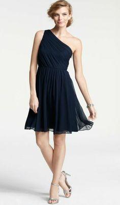 A darker idea--might be too dark for summer beach/garden wedding? REVEL: Navy Bridesmaid Dress or apple green!