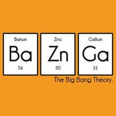 """Periodic Table BaZnGa! - Big Bang Theory"" T-Shirts & Hoodies by albertot | Redbubble"