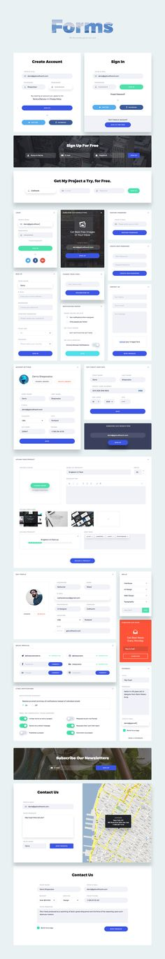 Buy Portland UI Kit by craftworkdesign on GraphicRiver. Portland – perfect, elegant and bright UI Kit. It combines beauty and usability and it is definitely the tool you nee. Layout Design, Graphisches Design, Web Layout, Web Responsive, Ui Web, Ecommerce, Interface Web, User Interface Design, Form Design Web
