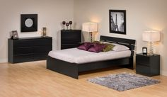 full size platform bedroom sets design decorating ideas dark brown wooden with grey leather