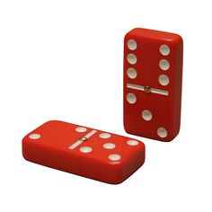 Double 6 Tournament Size Dominoes Red with Spinners #billiardfactory