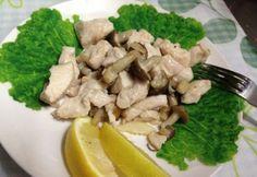 Gyors diétás gombás csirkemell Grains, Stuffed Mushrooms, Rice, Meat, Chicken, Vegetables, Recipes, Food, Stuff Mushrooms