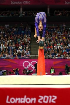 Jordyn Wieber of the United States competes on the beam in the Artistic Gymnastics Women's Team qualification on Day 2 of the London 2012 Olympic Games at North Greenwich Arena on July 29, 2012 in London, England.