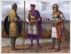 richard hook showing roman warriors of the Praetorian Guard under the emperor Septimus Severus in the and century AD Ancient Rome, Ancient History, Roman Armor, Roman Warriors, Roman Legion, Classical Antiquity, Roman Soldiers, Roman History, Roman Emperor