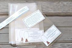 Cello Style Flat Ornament Gift Bags Set of by cookiedoughcreations