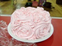 pink rosette cake so beautiful
