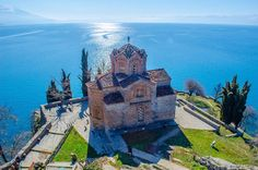 57. Marvel at the view of Lake Ohrid from the Church of St. John the Theologian, pictured below, in Ohrid, Macedonia.