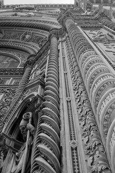 Duomo: West Front Detail, Florence, Italy.