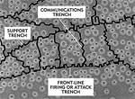 Diagram showing overhead view of trenches