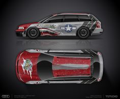 Design concept #17 Mustang WWII fighter for AUDI RS4 Avant