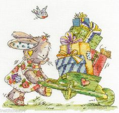 DMC-Somebunny-To-Love-Cross-Stitch-Kit-Delivering-Gifts