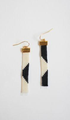 Loom Beaded Geometric Earrings — Everything Golden