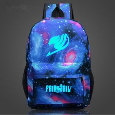 Sugoiiiiii! So Cool! The galaxy print Fairy Tail Backpack is in stock and it's prettier than ever! You can be sure to impress your anime loving friends with this one. It makes for a great daily backpa