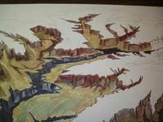 Detail drawing Grand Canyon preliminary