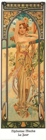 Daytime Konsttryck  Alphonse Mucha