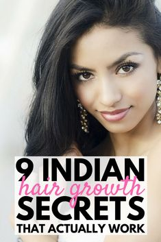 Indian Hair Growth Secrets: Healthy Natural Hair Growth Tips That Work | Want to know how to grow your hair FASTER? While we can't promise it'll happen overnight, in a week, or even in a month, we've got 19 tips to teach you how to grow your hair naturally with things like coconut oil & aloe vera, the right food choices & hair growth products that actually work. These real beauty remedies are your ticket to long thick hair that glows! #hairgrowth #hairgrowthproducts #hair #hairstyle…