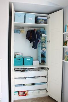 It's an ikea PAX wardrobe. I added three wooden drawers, two shelves and a hanging rod.