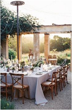 Table layout for small group + love fairy light 'umbrella'