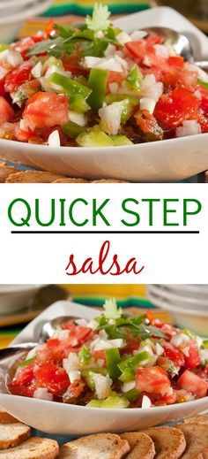 this favorite recipe for quick step salsa makes a fun appetizer to set out for hungry