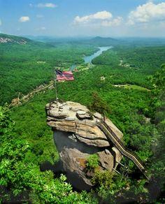 """""""Chimney Rock"""" ~ Chimney Rock State Park, Chimney Rock, North Carolina."""