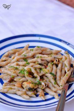 Trofie ai frutti di mare e pesto di zucchine