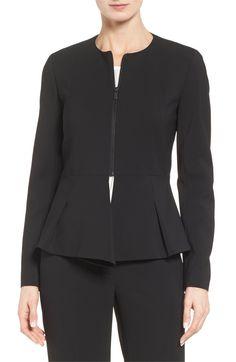 Main Image - Classiques Entier® Fold Detail Peplum Jacket