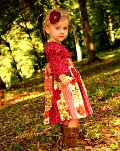 #zulily #fall every little girl should have a dress to match the leaves