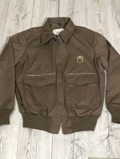 UPS United Parcel Service, Brown Uniform Coat Jacket Reflective L United Parcel Service, Vest Jacket, Online Price, Military Jacket, Halloween Costumes, Best Deals, Brown, Coat, Link