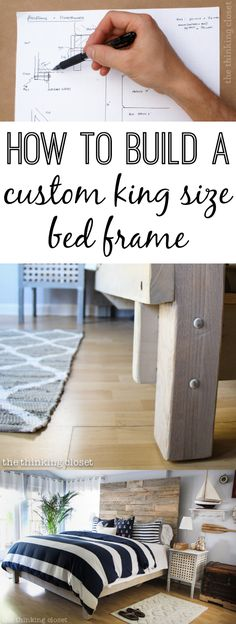 How to Build a Custom King Size Bed Frame - 10 steps to a brand new, custom built king size bed frame! You DIY'd - yes.you.did!