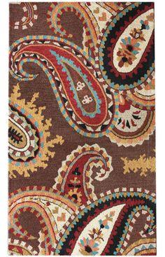 Santa Ana Bold Paisleys Ivory Rug | Contemporary Rugs.  Lots of rugs!