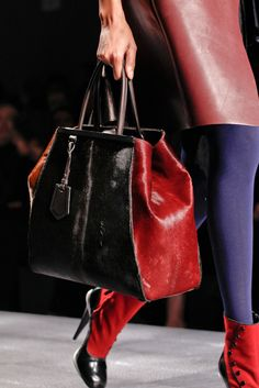 Fendi Fall 2012 black/red tote