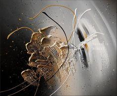 Tableau abstrait moderne à l'acrylique peinture en relief sur toile, châssis à clef 55 cm x 46 cm. 100% coton (épaisseur 2 cm)  Utilisation de pâte de structure pour le reli - 11159101