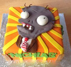 Plants vs Zombies cake Plants Vs Zombies, Zombies Vs, Zombie Birthday Cakes, 4th Birthday Parties, Boy Birthday, Birthday Ideas, Zombie Party, Crazy Cakes, Unique Cakes