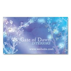 """""""Gate of Dawn"""" Jewel Floral Trees Interior Design Business Card. This great business card design is available for customization. All text style, colors, sizes can be modified to fit your needs. Just click the image to learn more! Interior Design Business, Business Card Design, Spa Business Cards, Tree Interior, Text Style, Dawn, Floral Design, Things To Come, Jewels"""