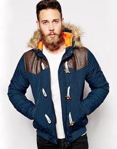 Agrandir ASOS - Veste matelassée à brandebourgs style duffle-coat Veste  Matelassée, Manteau Homme f2047bdaa463