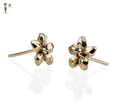 Flower Gold Post Studs Earring tiny beautiful little gift - Wedding earings (*Amazon Partner-Link)