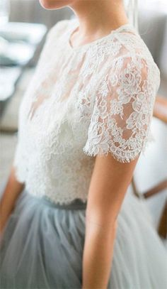 2016 Country Style Bohemian Bridesmaid Dresses Top Lace Short Sleeves Illusion Bodice Tulle Skirt Maid Of Honor Wedding Guest Party Gowns Bridesmaid Dresses, Prom Dresses, Bohemian Bridesmaid, Bridesmaid Skirt And Top, Wedding Dresses, Bridesmaids, Casual Bridesmaid, Bridesmaid Ideas, Mode Outfits