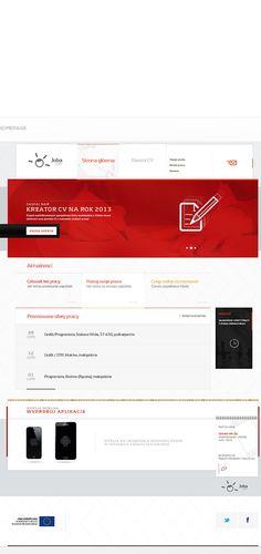 CV Creator by Michal Augustynowicz, via Behance