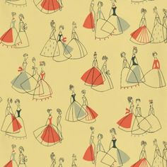 Yellow / Red - 210242 - Fifi - 50s Collection Wallpaper