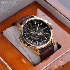 #Luxus Mens Women Brown Tachymeter# Datum Leather Sport Quarz Armbanduhr Fashion Swiss Design Tropfen