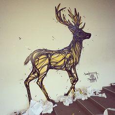 dzia murals deer - Google Search