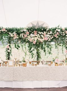 If you recently got engaged (or plan on getting engaged soon), check out the new Spring 2017 issue of mywedding magazine to get all the real wedding inspiration to create the celebration of your dreams. Don't forget to share your favorite wedding ideas with us using the hashtag #myweddingmag! Pictured here: Flowers are always a wedding decor favorite - and this extravangant floral wall might take the cake.