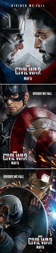 11-23-15 New Captain America: Civil War Posters! #ironman #captain america